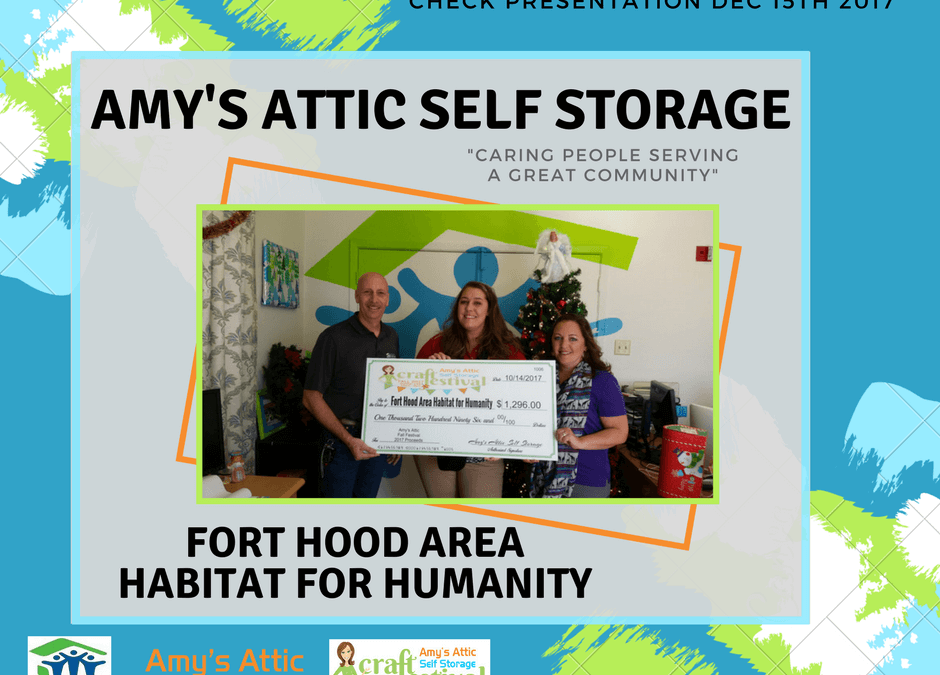 Amys Attic Self Storage Gives Back to Fort Hood Area Habitat for Humanity