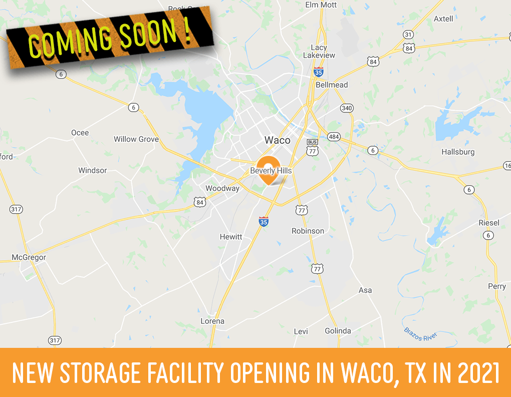 New Storage Facility Opening in Waco, TX in 2021