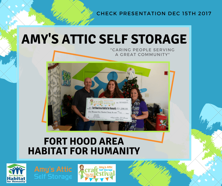 Amy's Attic Craft Festival Check Presentation