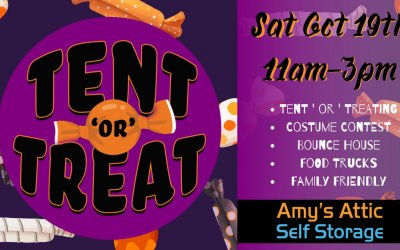Amy's Attic Self Storage Sponsoring 2019 Fall 'Tent or Treat' Festival