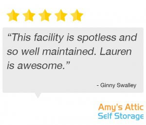 storage facility is spotless testimonial