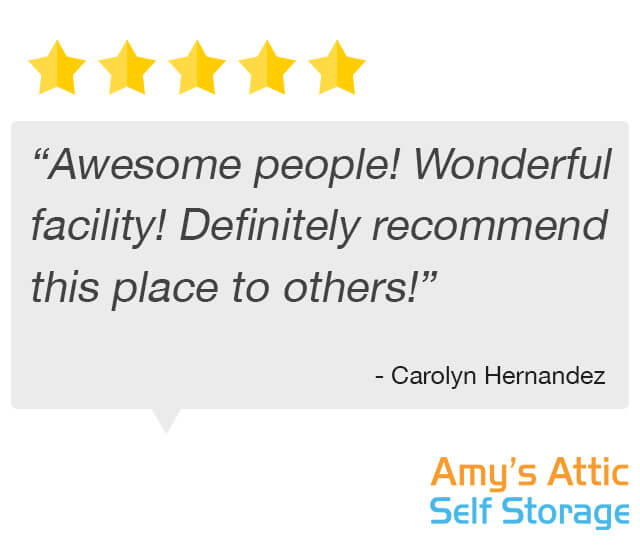 Wonderful storage facility testimonial